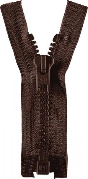 Reißverschluss P60 Werra 30-80 cm teilbar dunkelbraun
