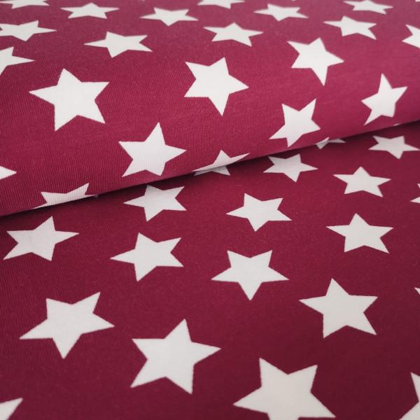 Baumwolljersey Sterne pink