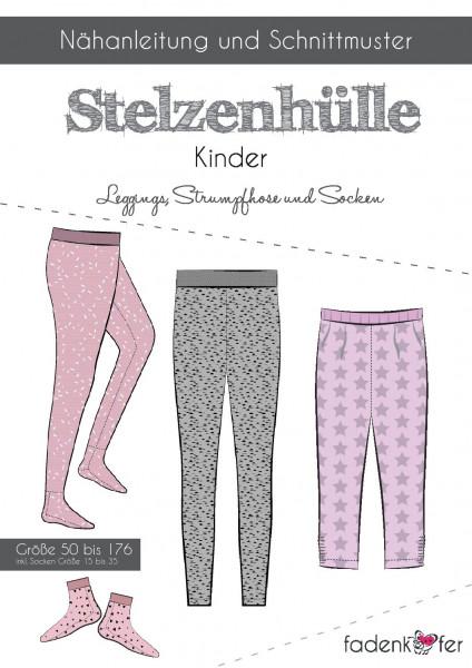 Schnittmuster Leggings/ Strumpfhose Stelzenhülle Kinder Gr. 50-176