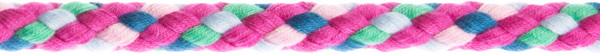 Flechtkordel 8 mm multicolor-pink