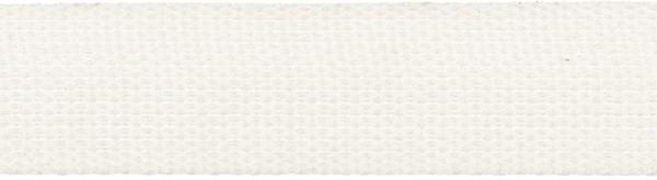 Gurtband 30 mm weiß