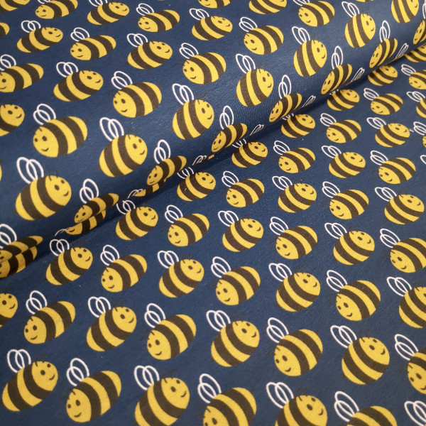 Baumwolljersey Bienen