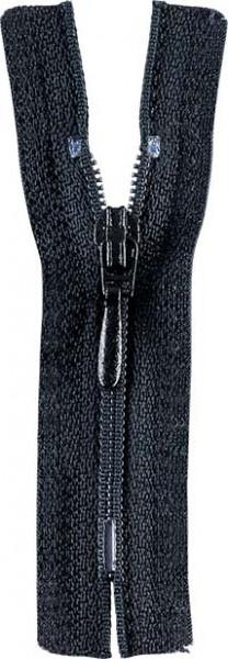 Reißverschluss Tropfenschieber 30-60 cm nicht teilbar schwarz
