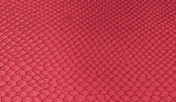 Kunstleder-Zuschnitt Leguan rot