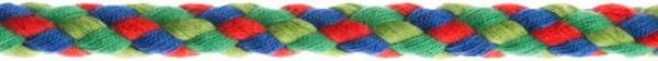 Flechtkordel 8 mm multicolor-grün