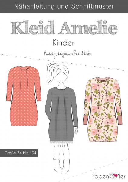 Schnittmuster Kleid Amelie Kinder Gr. 74-164