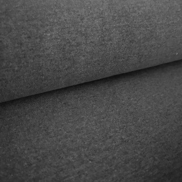 Bündchenstoff Feinstrick dunkelgrau-meliert