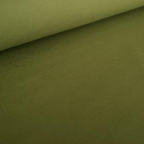 Baumwolljersey Uni spinatgrün