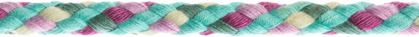 Flechtkordel 8 mm multicolor-mint