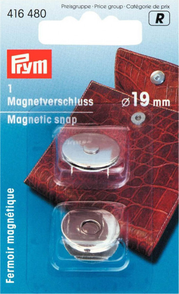 Magnet-Verschluss 19 mm silberfarbig