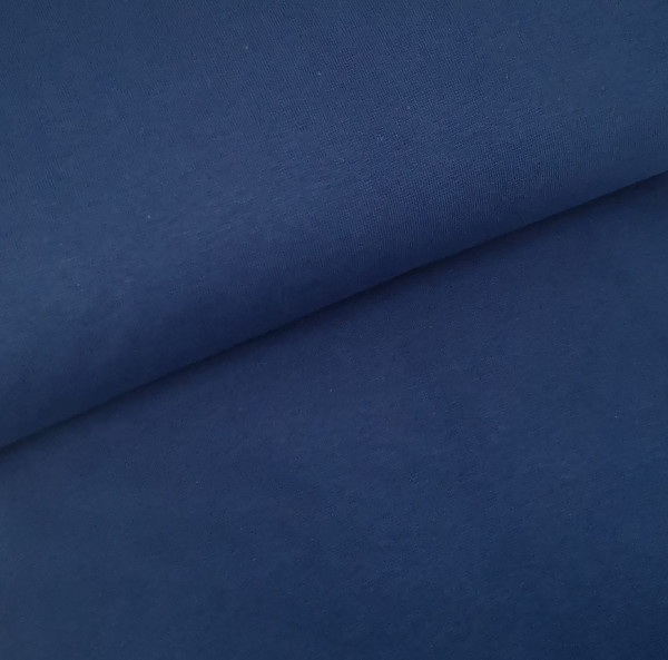 Bündchenstoff Feinstrick dunkel-jeansblau