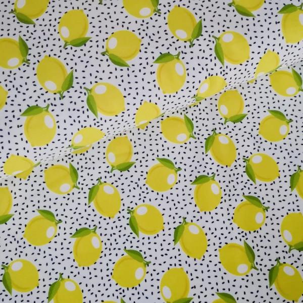 Baumwolljersey Zitronen