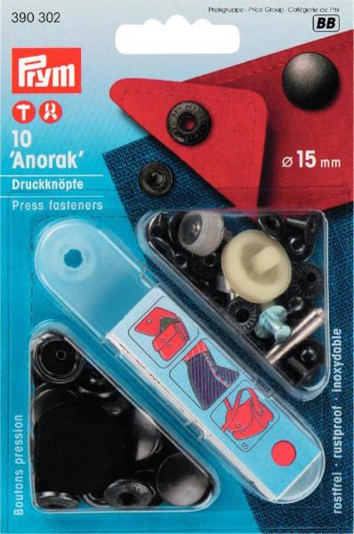 """Druckknöpfe """"Anorak"""" 15 mm brüniert"""