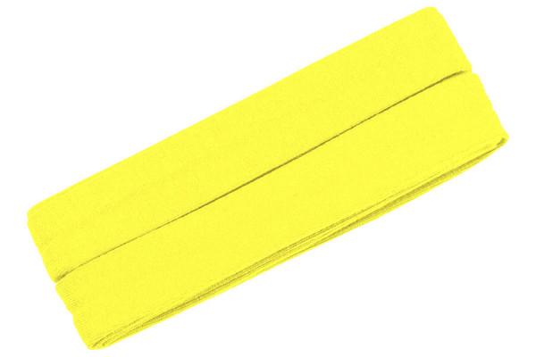 Jersey-Schrägband 20 mm neongelb
