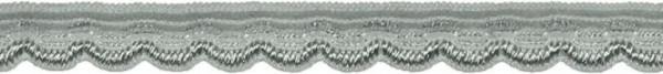 Abschlusslitze elastisch 8 mm grau