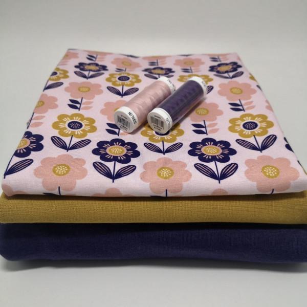 """Stoffpaket """"floral"""": Babyset, Gr. 50-98"""