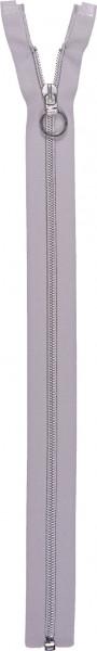 Spiralreißverschluss 40 cm teilbar silberfarben