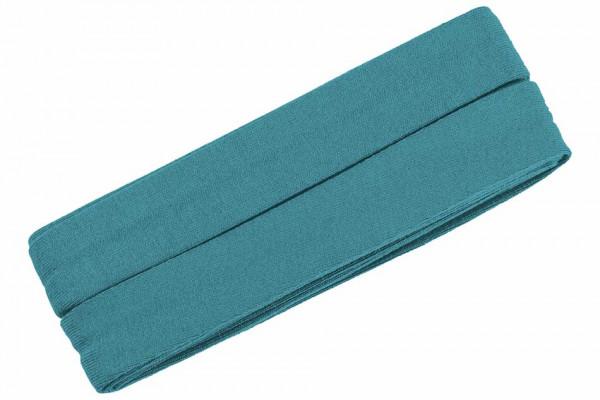 Jersey-Schrägband 20 mm blaugrau