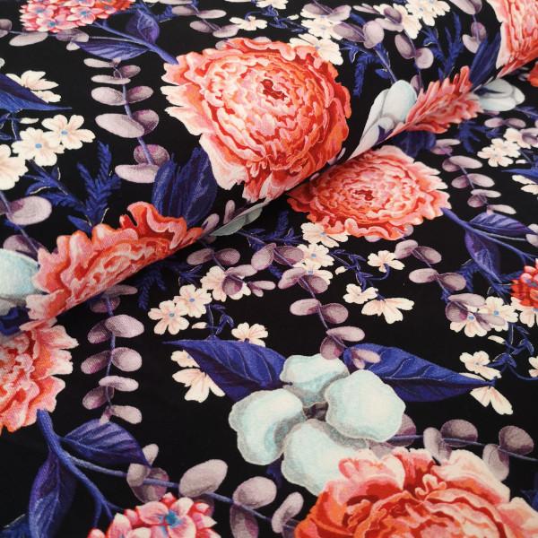 Viskosejersey floral