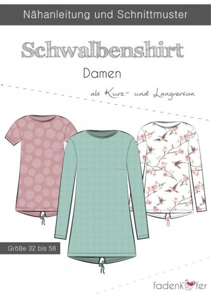 Schnittmuster Schwalbenshirt Damen Gr. 32-58