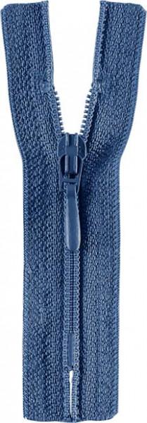 Reißverschluss Tropfenschieber 30-60 cm nicht teilbar jeansblau
