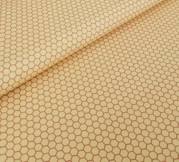 Baumwollstoff Bienenwabe