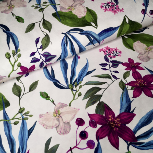 Baumwolljersey Druck floral