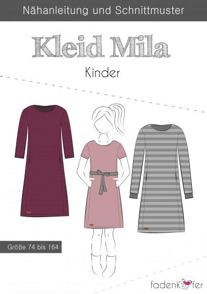 Schnittmuster Kleid Mila Kinder Gr. 74-164