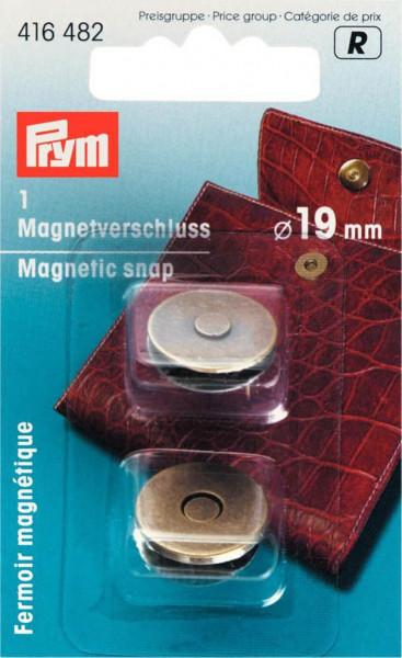 Magnet-Verschluss 19 mm altmessing