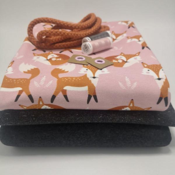 """Stoffpaket Kinder """"Fuchs"""": Hoodie & Pumphose, Gr. 74-110"""