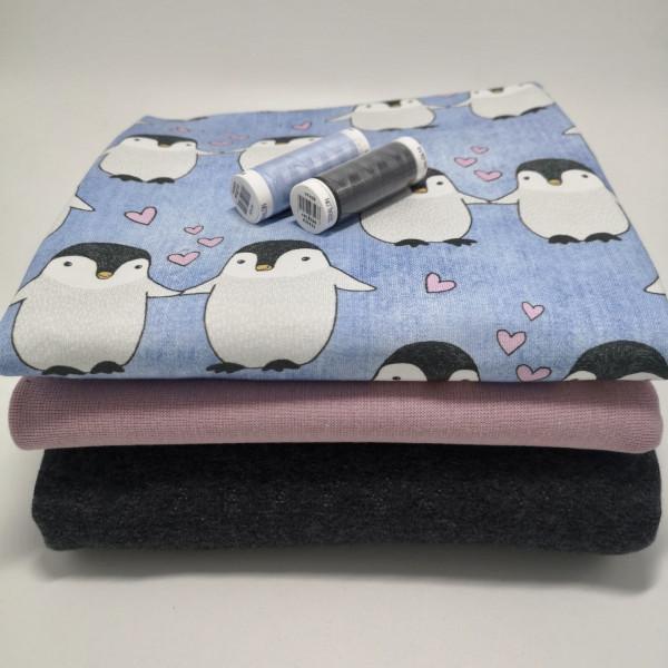 "Stoffpaket ""Pinguin"": Babyset, Gr. 50-98"