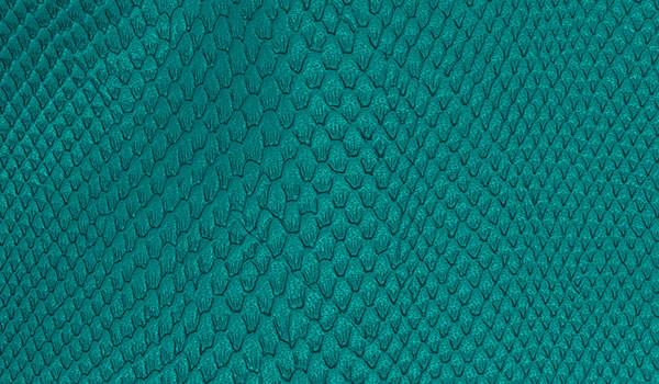 Kunstleder-Zuschnitt Leguan blau