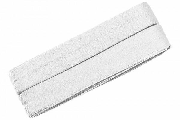Jersey-Schrägband 20 mm weiß