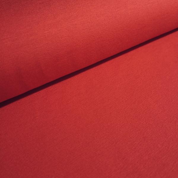 Baumwolljersey Uni rot