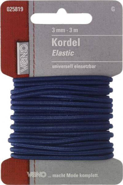 Elastic-Kordel 3 mm marine