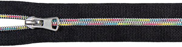 Spiralreißverschluss Multicolor inkl. Schieber schwarz