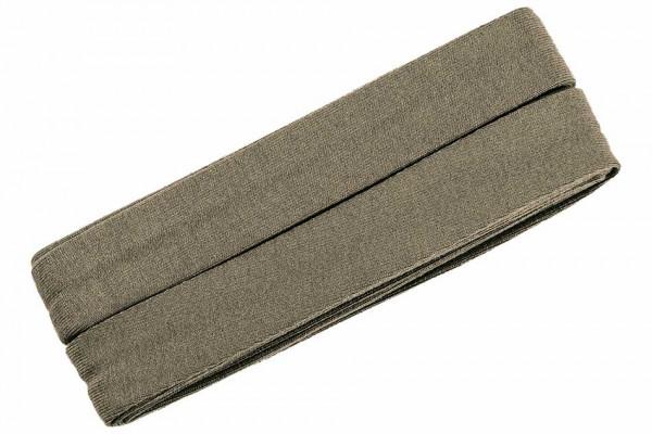 Jersey-Schrägband 20 mm grüngrau