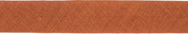 Baumwoll-Schrägband gefalzt 40/20 hellbraun