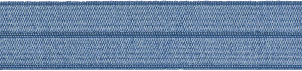 Einfassband elastisch 20 mm jeansblau