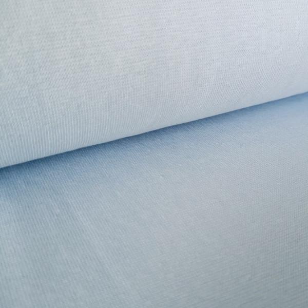 Bündchenstoff Feinstrick babyblau